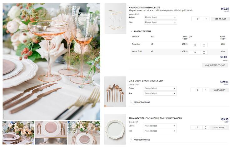 Place setting list